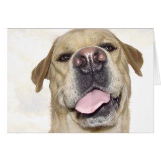 Ámele también - retrato torpe de Labrador Felicitacion