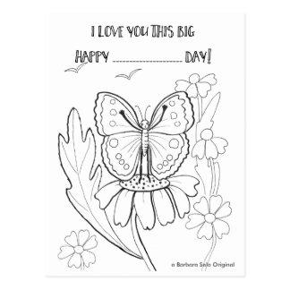 Ámele tanto postal de ColorIn de la mariposa