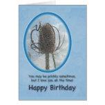 Ámele tarjeta de cumpleaños - cardo del cardo