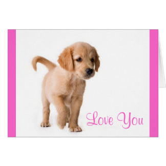 Ámele tarjeta de felicitación del perro de perrito