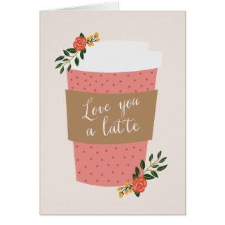 Ámele una tarjeta del día de San Valentín de Latte