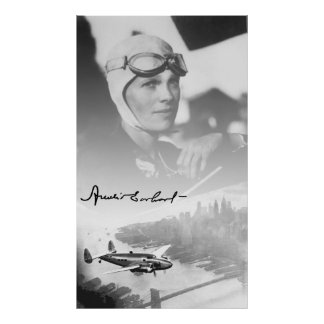 AMELIA and her LOCKHEED ELECTRA AIRPLANE Poster