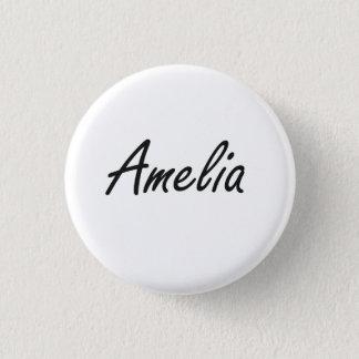Amelia artistic Name Design Pinback Button