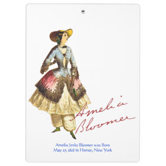 Amelia Bloomer Clipboard - Can Be Personalized
