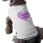 Amelia (corazón púrpura) camisa de perrito