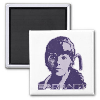 Amelia Earhart - 2 2 Inch Square Magnet