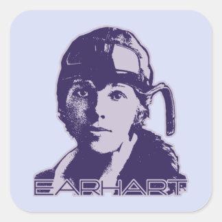 Amelia Earhart - 2 Square Sticker