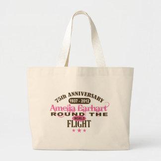 Amelia Earhart 75 Year Anniversary Jumbo Tote Bag