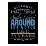 Amelia Earhart 75 Year Anniversary Card