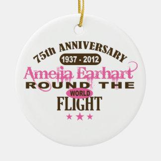 Amelia Earhart 75 Year Anniversary Ceramic Ornament