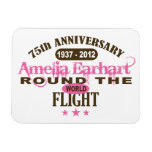 Amelia Earhart 75 Year Anniversary Flexible Magnet