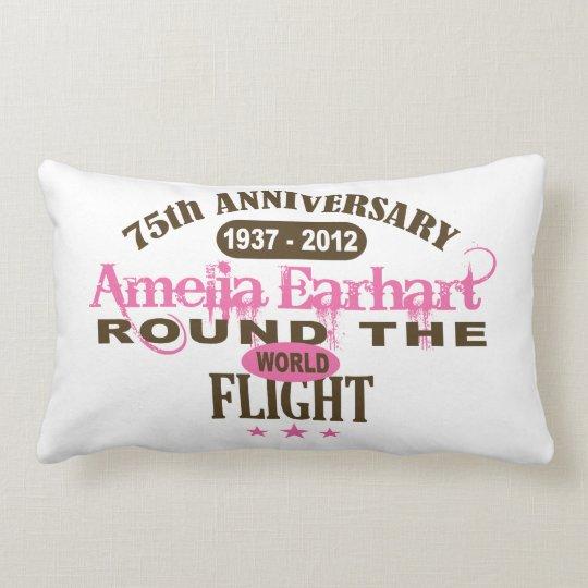 Amelia Earhart 75 Year Anniversary Lumbar Pillow