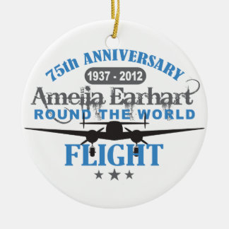 Amelia Earhart 75 Year Anniversary Christmas Ornaments