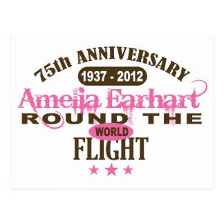 Amelia Earhart 75 Year Anniversary Postcard