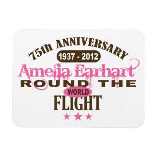 Amelia Earhart 75 Year Anniversary Flexible Magnet
