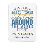 Amelia Earhart 75 Year Anniversary Flexible Magnets