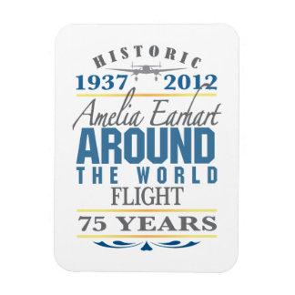 Amelia Earhart 75 Year Anniversary Rectangular Photo Magnet