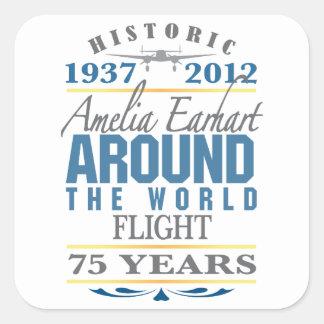 Amelia Earhart 75 Year Anniversary Square Sticker