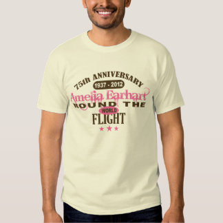 Amelia Earhart 75 Year Anniversary Tee Shirt