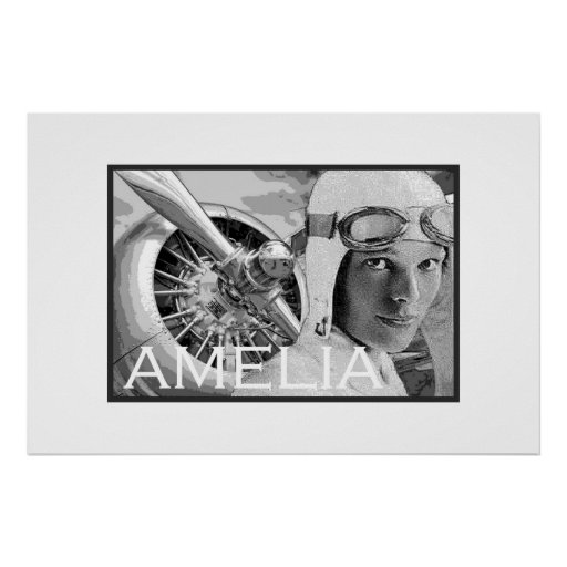Amelia Earhart And Her Electra Propeller Print Zazzle