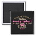 Amelia Earhart aniversario de 75 años Imán Para Frigorífico
