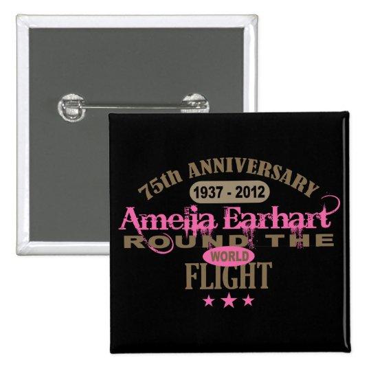 Amelia Earhart aniversario de 75 años Pin Cuadrado