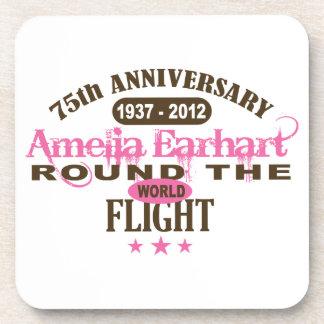 Amelia Earhart aniversario de 75 años Posavasos