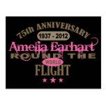 Amelia Earhart aniversario de 75 años Postales