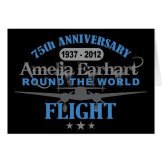 Amelia Earhart aniversario de 75 años Tarjeta De Felicitación