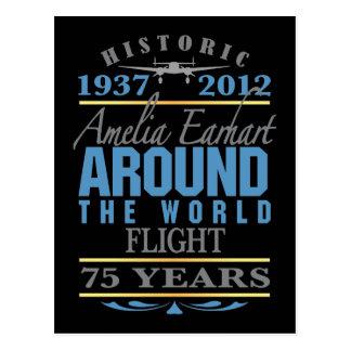 Amelia Earhart aniversario de 75 años Tarjeta Postal