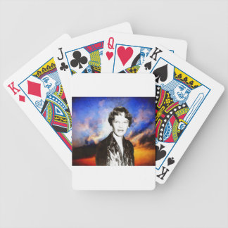 Amelia Earhart Artwork Bicycle Playing Cards
