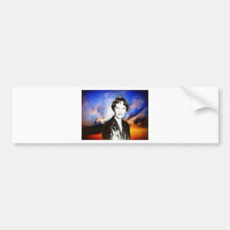 Amelia Earhart Artwork Bumper Sticker