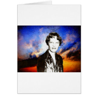 Amelia Earhart Artwork Greeting Card