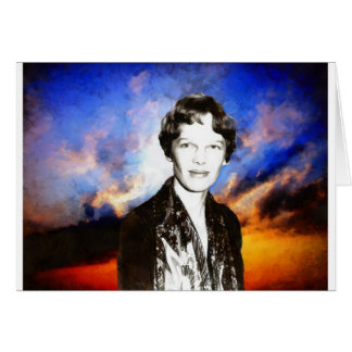 Amelia Earhart Artwork Card
