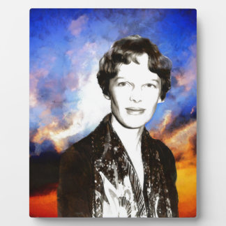 Amelia Earhart Artwork Plaque