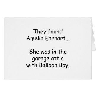 Amelia Earhart & Balloon Boy Card