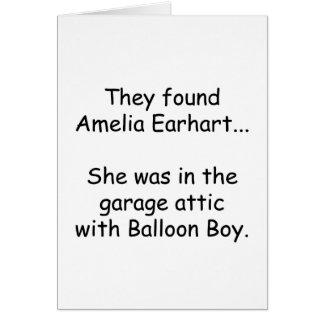 Amelia Earhart & Balloon Boy Card