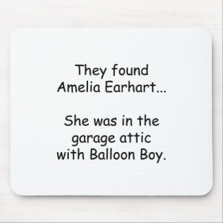 Amelia Earhart & Balloon Boy Mouse Pad