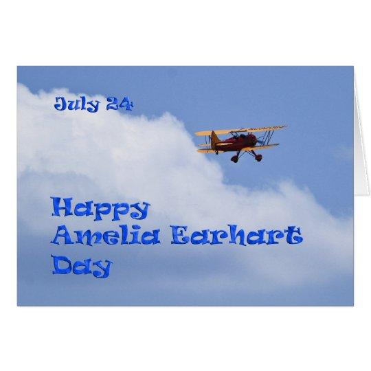 Amelia Earhart Day Card July 24