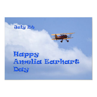 Amelia Earhart Day Party Invite July 24