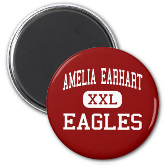 Amelia Earhart - Eagles - Middle - Riverside 2 Inch Round Magnet