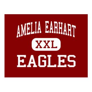 Amelia Earhart - Eagles - Middle - Riverside Postcard