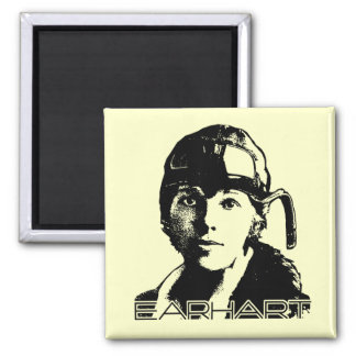 Amelia Earhart 2 Inch Square Magnet