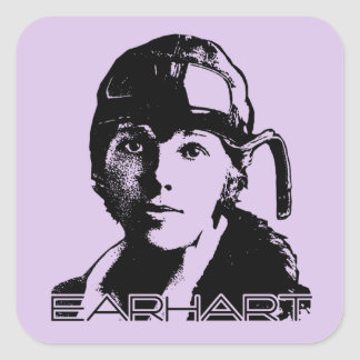 Amelia Earhart Square Sticker