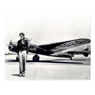 Amelia Earhart Tarjeta Postal
