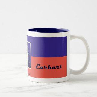 Amelia Earhart Two-Tone Mug