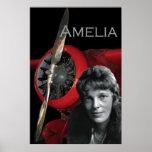 Amelia Earhart y su Lockheed Electra Posters