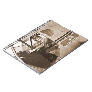 Amelia experimental Earhart 1936 Libro De Apuntes