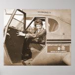 Amelia experimental Earhart 1936 Póster