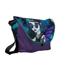 vampire, fairy, cat, werecat, castle, gothic, faerie, amelia, twixt, Rickshaw messenger bag with custom graphic design